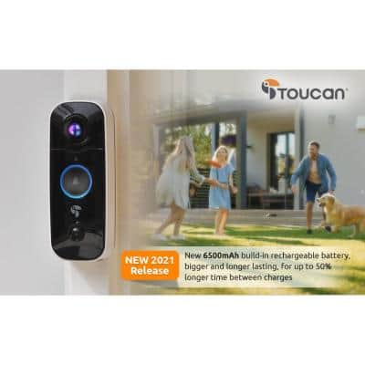 1-Channel 1080p HD 180-Degree with Wi-Fi and 2-Way Communication Wireless Video Doorbell Camera