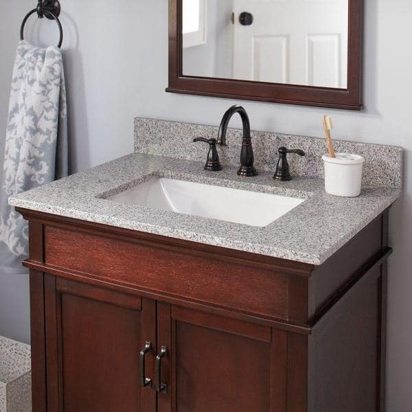 Home Decorators Collection 37 In W X 19 In D Granite Vanity Top In Napoli 36196 The Home Depot