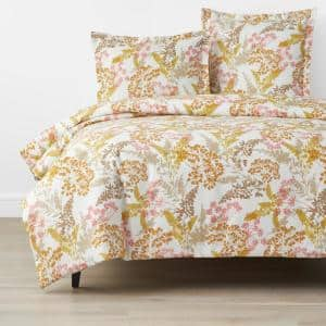 Company Cotton Florescence Multi-Colored Full Cotton Percale Duvet Cover