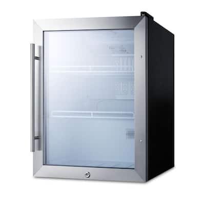 Outdoor 19 in. 2.1 cu. ft. Commercial Refrigerator in Black
