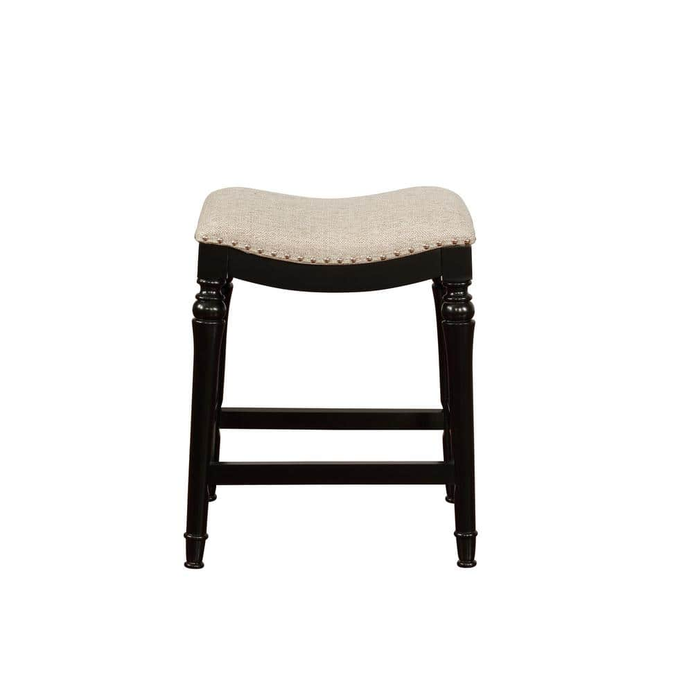 Powell Company Collins 24 In Black Counter Stool Hd1099d19 The Home Depot
