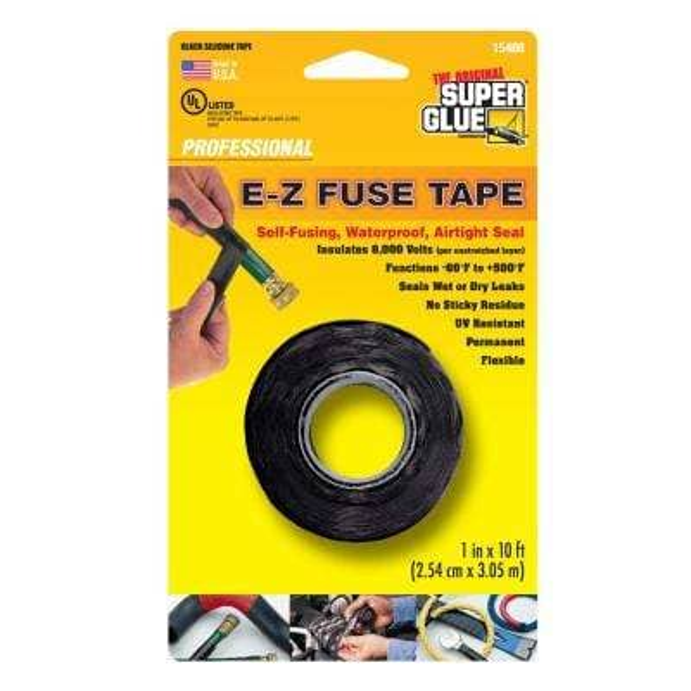 1 in. x 10 ft. Black E-Z Fuse Silicone Tape