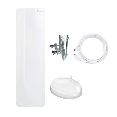 Flat-Panel Outdoor Indoor Digital TV Antenna High Gain Multi-Directional