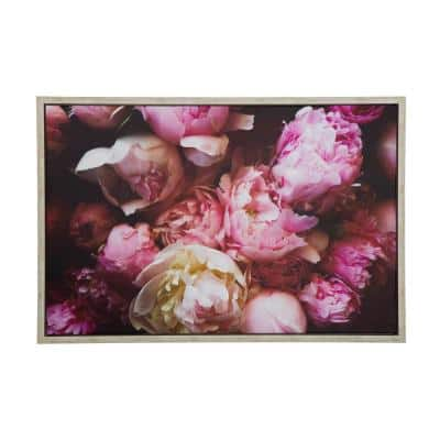 Blushing Peonies II' - 38 in. W x 25 in. H Framed Photo by Veronica Olson Printed on Canvas