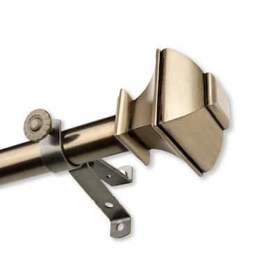 48 in. to 84 in. Adjustable 13/16 in. Julianne Single Curtain Rod in Antique Brass