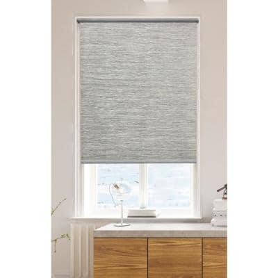 Roller Shades Taupe Cordless Light Filtering Natural Fiber Fabric 55 in. W x 72 in. L