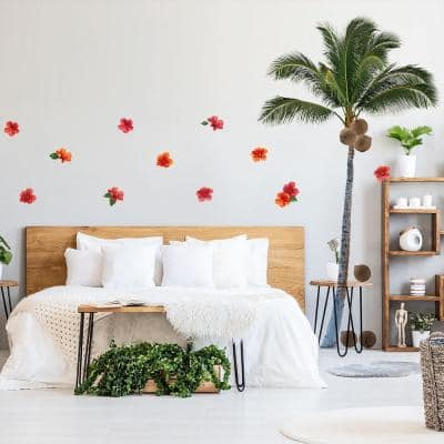 Palm Tree Peel and Stick Wall Decals (set of 24)
