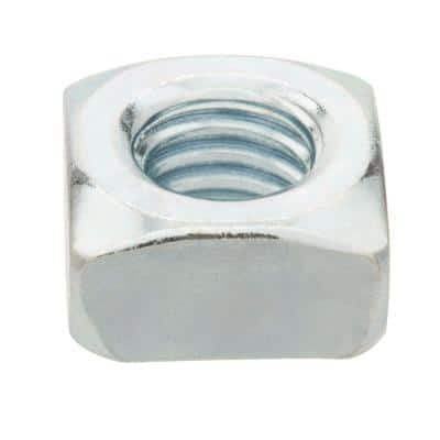 2-Pieces 3/8 in.-16 Zinc-Plated Coarse Thread Square Nuts