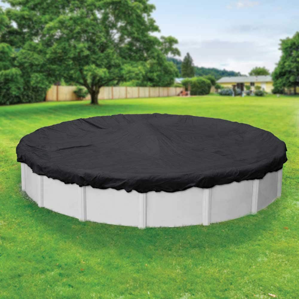 Robelle Mesh 30 Ft Round Black Mesh Above Ground Winter Pool Cover 3830 The Home Depot