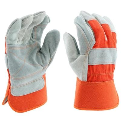 Split Cowhide Leather Palm Medium Work Gloves