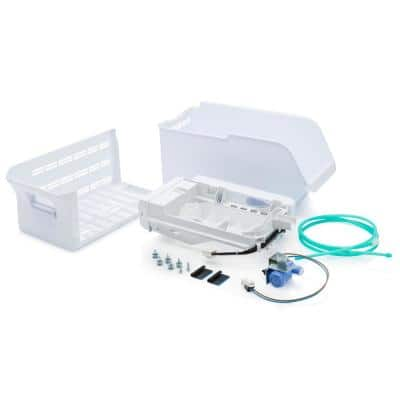 8.25 in. Top Mount Refrigerator 5 lbs. Built-In Plastic Ice Maker Installation Kit in White