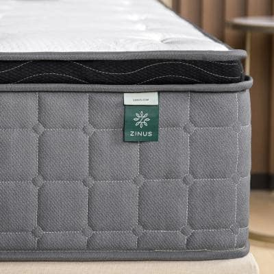 Cool Touch Comfort Gel 12 Inch Medium Euro Top Twin Hybrid Mattress