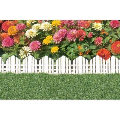 22 in. x 10 in. Plastic Adirondack Decorative Border Lawn Edging