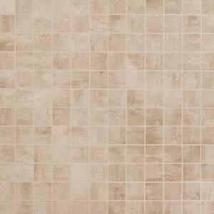 Marken Greige 11.87 in. x 11.87 in. Matte Porcelain Mosaic Tile (0.97 sq. ft.)