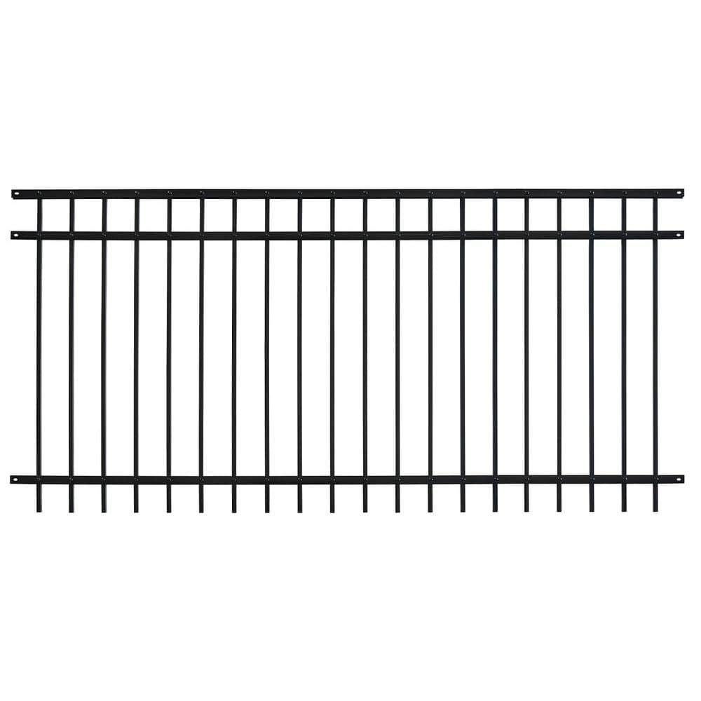 Us Door And Fence Pro Series 4 84 Ft H X 7 67 Ft W Black Steel Adjustable Fence Panel Fhf3r92x58us The Home Depot