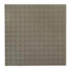 Vantage Circular Profile 19.69 in. x 19.69 in. Lunar Dust Rubber Tile