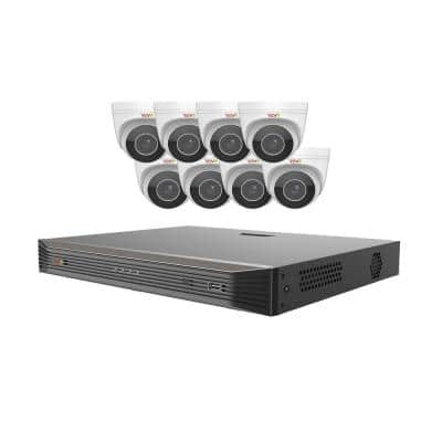 Ultra HD Audio Capable 16-Channel 3TB NVR Surveillance System with Eight 4 Megapixel Motorized Cameras