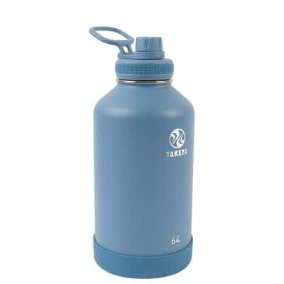 Actives 64 oz. Bluestone Insulated Stainless Steel Water Bottle with Spout Lid