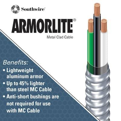 10/2 x 125 ft. Stranded CU MC (Metal Clad) Armorlite Cable