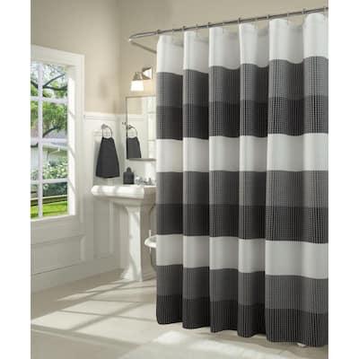 black shower curtains shower
