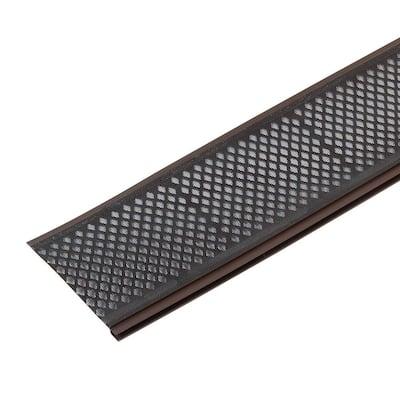 Snap-In Filter 3 ft. Brown Vinyl Micro-Mesh Gutter Guard