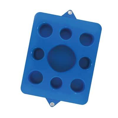 9-Hole Cutout Bahama Blue Pool Floating Drink Tray