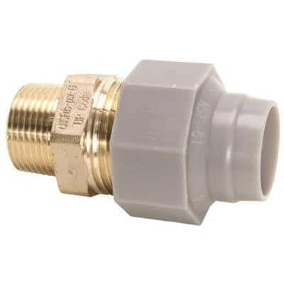 3/4 in. x 3/4 in. MPT Lead Free PEX Qicktite Brass Male Adapter