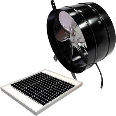 20-Watt 1350 CFM Black Gable Solar Attic Fan