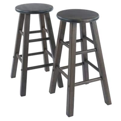 Element 24 in. Oyster Gray Counter Stools 2-Piece Set