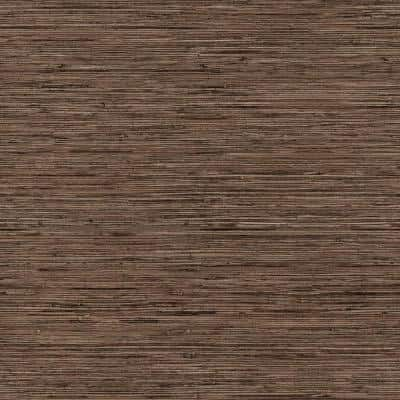 Grasscloth Brown Vinyl Peel and Stick Wallpaper Roll (Covers 28.18 sq. ft.)