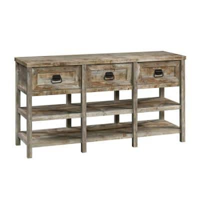 Granite Trace 59.055 in. W Rustic Cedar Rectangle Engineered Wood Entertainment Credenza