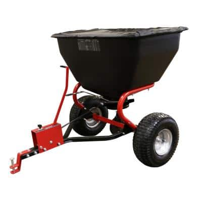 200 lbs. Tow Behind Broadcast Spreader with Direct Rod Control