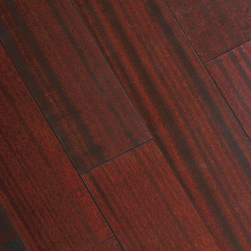 Home Legend Matte Corbin Mahogany 3 8 In Thick X 5 In Wide X Varying Length Click Lock Hardwood Flooring 19 686 Sq Ft Case Hl302h The Home Depot