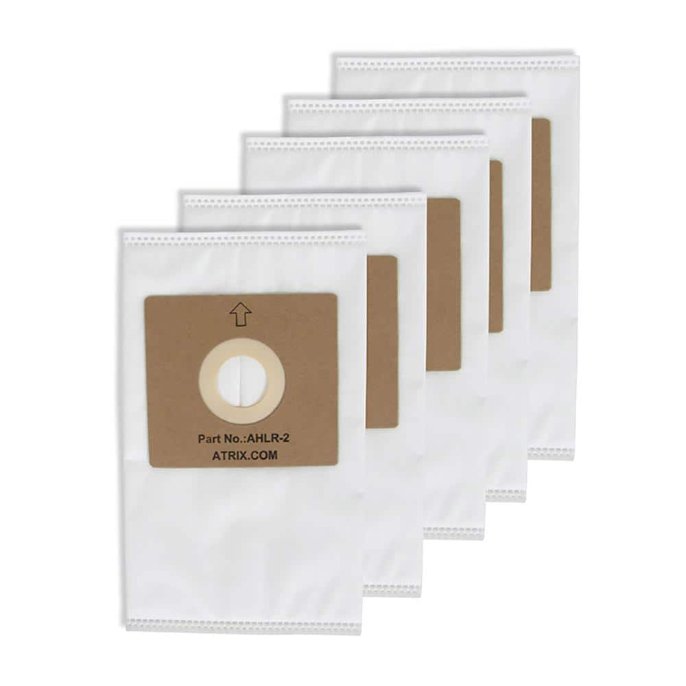 Atrix International Hepa Bags For Ahsc1 In White 5 Pack Ahlr2 The Home Depot
