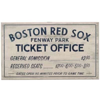 Boston Red Sox Vintage Ticket Office Wood Wall Decor