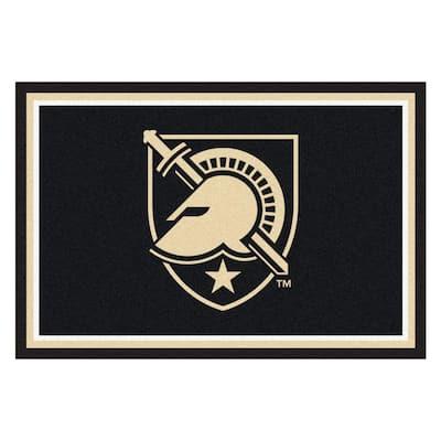NCAA - U.S. Military Academy Black 8 ft. x 5 ft. Indoor Rectangle Area Rug