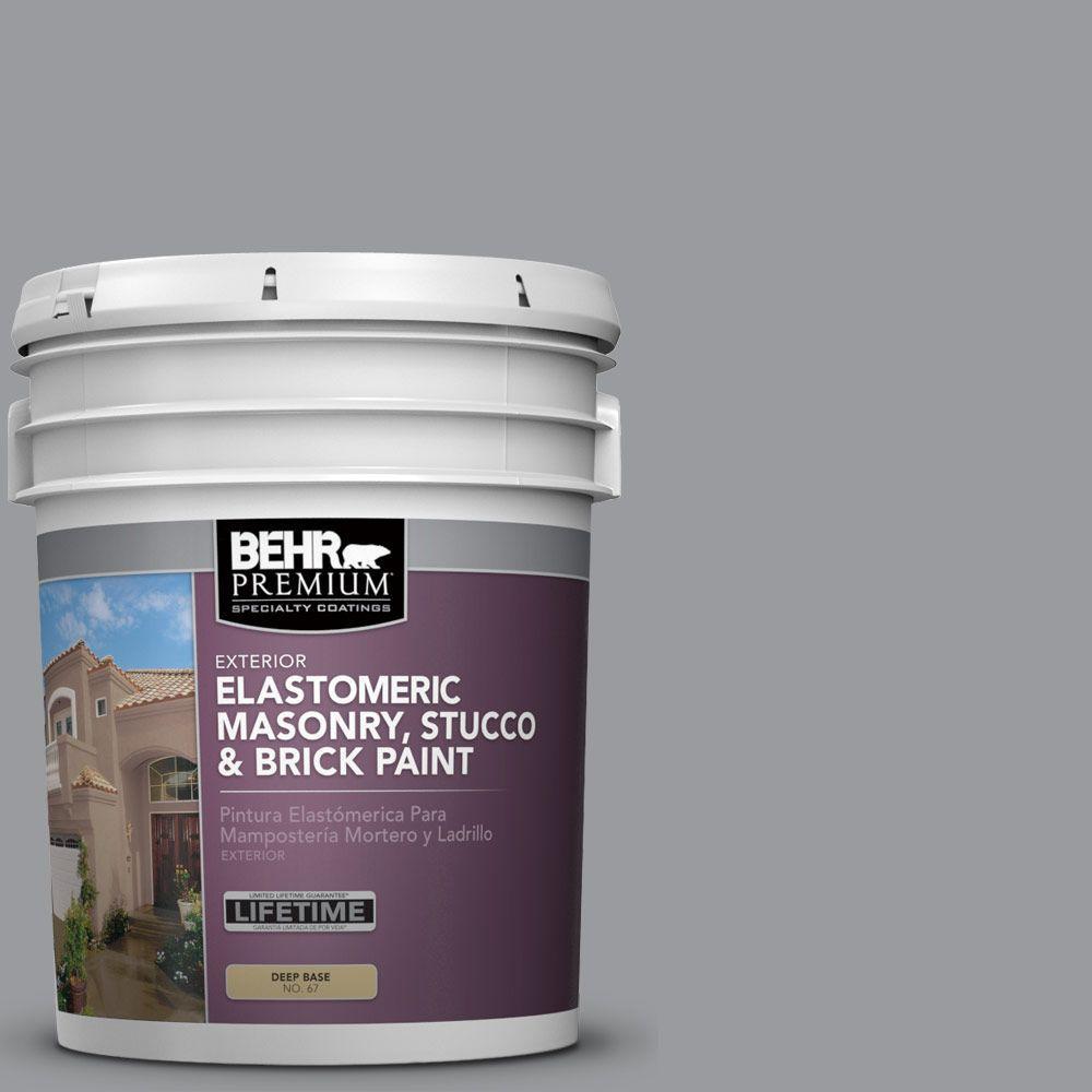 5 Gal. #MS-82 Cobblestone Grey Elastomeric Masonry, Stucco and Brick Exterior Paint
