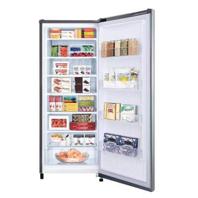 5.8 cu. ft. 20 in. W. Single Door Upright Freezer in PrintProof Platinum Silver