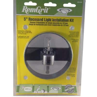 5-3/8 in. Carbide Grit Recessed Light Installation Kit