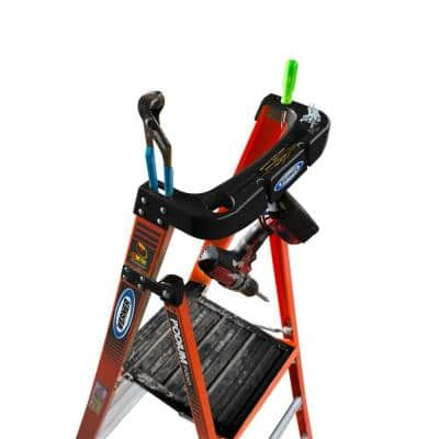 10 ft. Fiberglass Podium Step Ladder ( 16 ft. Reach Height) with 300 lbs. Load Capacity Type IA Duty Rating