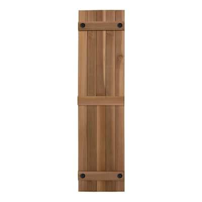 Porter 15 in. x 60 in. Cedar Board and Batten Shutters Pair in Natural