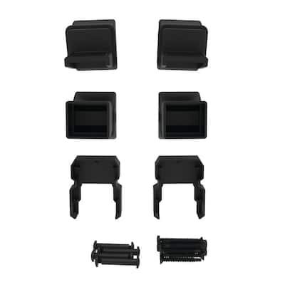 VersaRail Matte Black Aluminum Stair Bracket Kit (4)