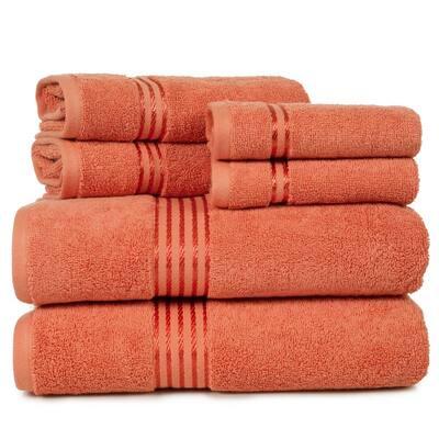 6-Piece Brick 100% Cotton Bath Towel Set