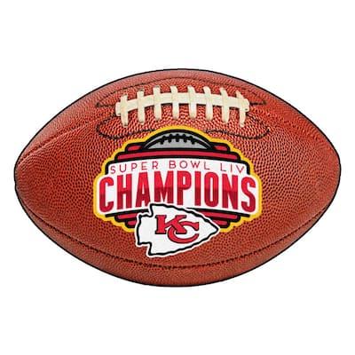 "NFL - Kansas City Chiefs Super Bowl LIV Champions Brown 20.5"" x 32.5"" Football Mat"