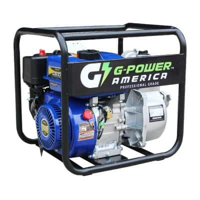 7 HP 2 in. Gas Semi-Trash/Water Pump with 208cc LCT Commercial Grade Professional Engine, 117.3 GPM