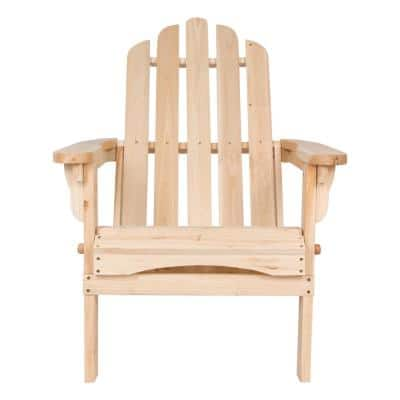 Marina Natural Folding Cedar Wood Adirondack Chair