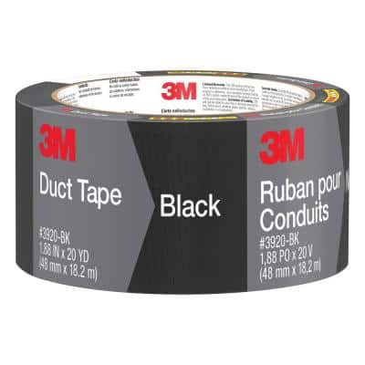 1.88 in. x 20 yds. Black Duct Tape (Case of 12)