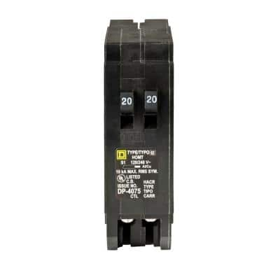 Homeline 2-20 Amp Single-Pole Tandem Circuit Breaker