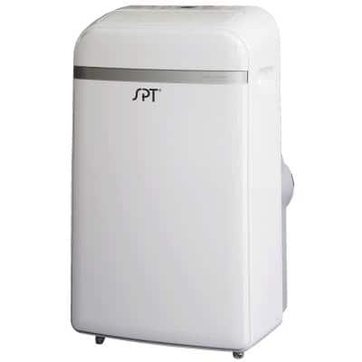 14,000 BTU 9,000 BTU (DOE) Portable Air Conditioner with Dehumidifier with Remote in White