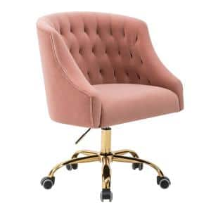 Lydia 24.5 in. Width Big and Tall Blush Pink Fabric Task Chair with Adjustable Height